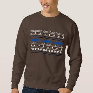 Sweatshirt laid de voiture de Turbo de Noël