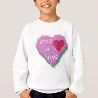 Sweatshirt L'amour est coeur Sweathshirt d'amour