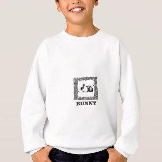 Sweatshirt lapin noir et blanc