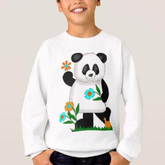 Sweatshirt Le bébé badine le panda avec les fleurs 2