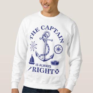 Sweatshirt Le capitaine est toujours - capitaine Funny -