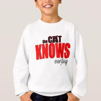 Sweatshirt Le CAT sait tout anima de dogperson de vérité de