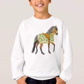 Sweatshirt Le cheval irlandais de défilé de shamrock badine