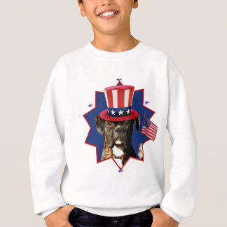 Sweatshirt Le chien patriotique de boxeur badine le