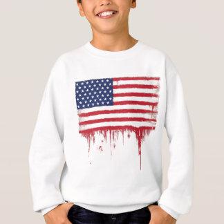 Sweatshirt Le cru de drapeau américain éclabousse