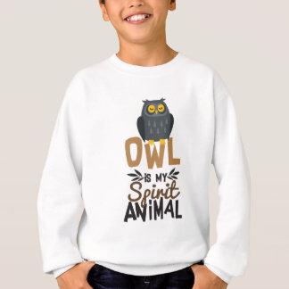 Sweatshirt Le hibou gentil est mon poster de animal d'esprit