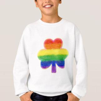 Sweatshirt Le jour de St Patrick de shamrock d'arc-en-ciel