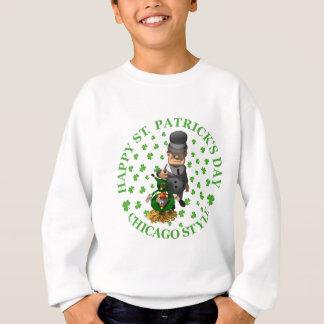 Sweatshirt Le jour de St Patrick heureux - style de Chicago