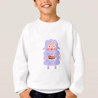 Sweatshirt Le mouton avec la partie attribue S génial stylisé
