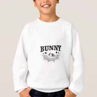 Sweatshirt le noir tient le premier rôle le lapin