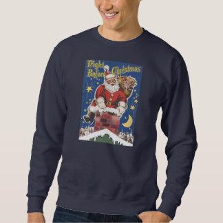 Sweatshirt Le père noël vintage, nuit de Twas avant Noël