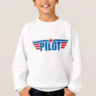 Sweatshirt Le pilote s'envole l'insigne - aviation