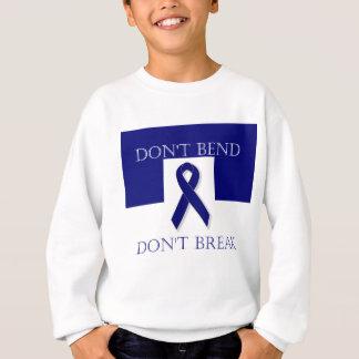 Sweatshirt Le ruban d'indigo ne se plient pas. Ne cassez pas.
