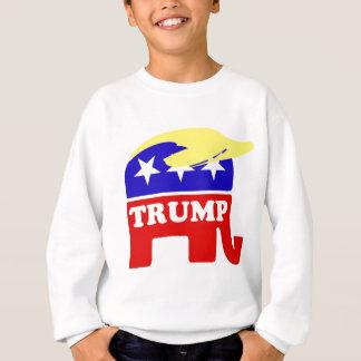 Sweatshirt L'éléphant de républicain de postiche de Donald