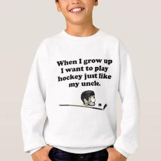 Sweatshirt L'hockey de jeu aiment mon oncle