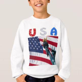 Sweatshirt Liberté de drapeau des Etats-Unis