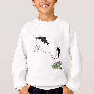 Sweatshirt Licorne des fleurs