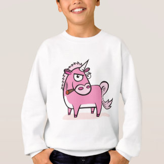 Sweatshirt Licorne rose de tabagisme