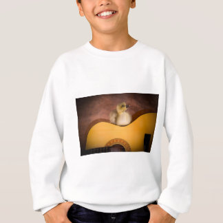 Sweatshirt little goose on a guitar