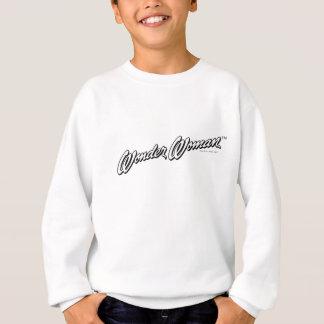 Sweatshirt Logo 1 de la femme de merveille B&W