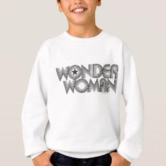 Sweatshirt Logo 3 de la femme de merveille B&W