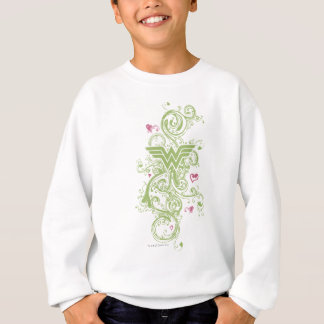 Sweatshirt Logo de remous de vert de femme de merveille