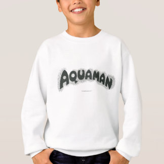 Sweatshirt Logo noir grunge d'Aquaman