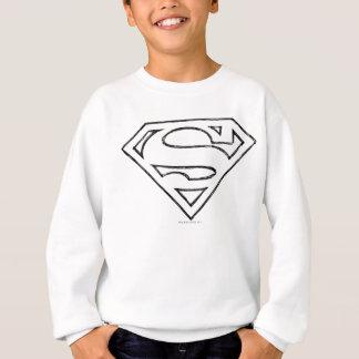 Sweatshirt Logo noir simple d'ensemble du S-Bouclier   de