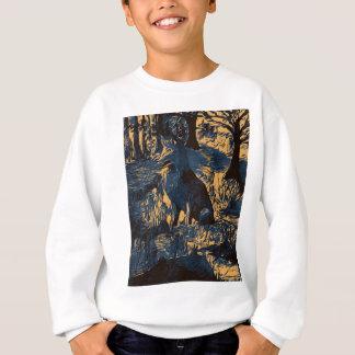 Sweatshirt loup dans les bois
