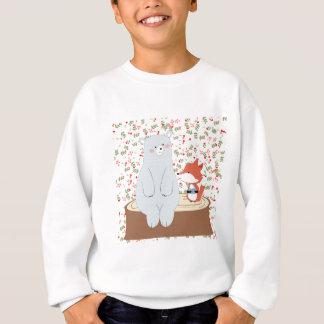 Sweatshirt Loup mignon vintage de renard d'été de ressort et