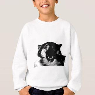 Sweatshirt Loup noir et blanc
