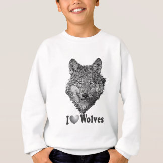 """Sweatshirt Loups du """"AMOUR"""" I avec l'image de loup"""