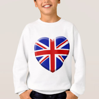 Sweatshirt love drapeau Angleterre
