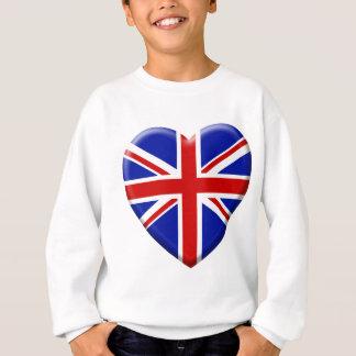 Sweatshirt love drapeau Royaume-uni Angleterre