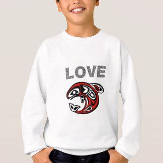 Sweatshirt Love fish réseau