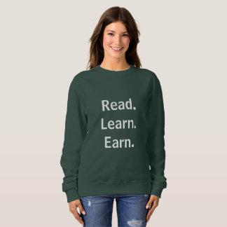 Sweatshirt Lu. Apprenez. Gagnez
