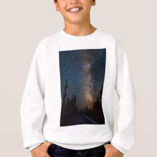 Sweatshirt Lumière de route de forêt