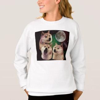 Sweatshirt Lune de doge - l'espace de doge - chien - doge -