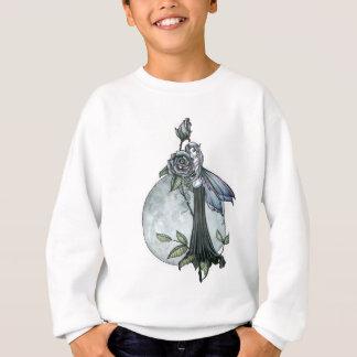 Sweatshirt Lune féerique gothique de rose de minuit