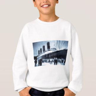 Sweatshirt Lusitania accouplé dans le ton de bleu de New York