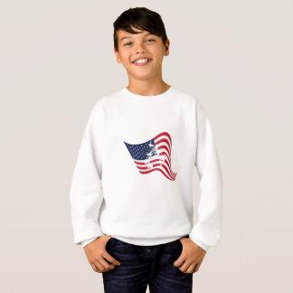 Sweatshirt Lutte d'amour de drapeau américain luttant