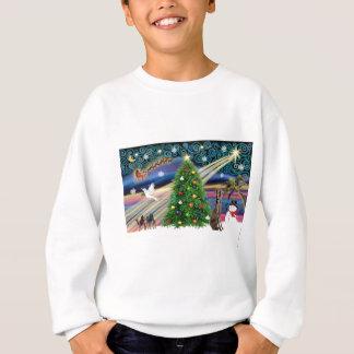 Sweatshirt Magie-Weimaraner de Noël