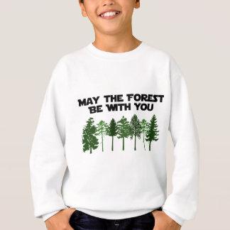 Sweatshirt Mai la forêt soit avec vous