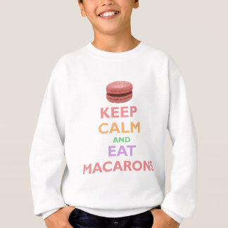 Sweatshirt Maintenez calme et mangez Macarons