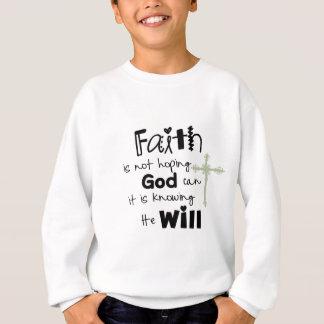 Sweatshirt marche dans la foi