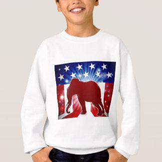Sweatshirt Mascotte politique républicaine d'éléphant