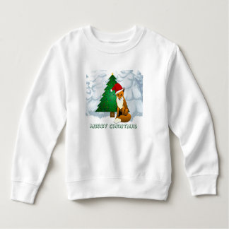 Sweatshirt mignon d'ouatine de Fox de Noël