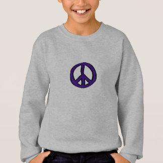 Sweatshirt Mini pourpres de signe de paix -
