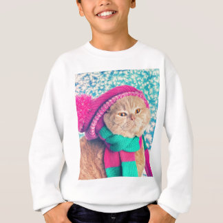 Sweatshirt Miscellaneous - Cat With Woolly Hat Two