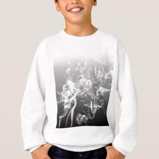Sweatshirt mode de motif d'art de fumée noire et blanche